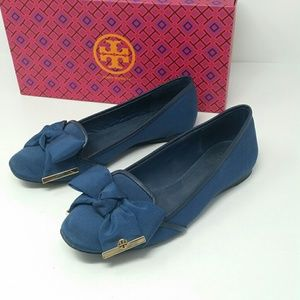 Tory Burch Loafers Women's Size 7 Navy Blue